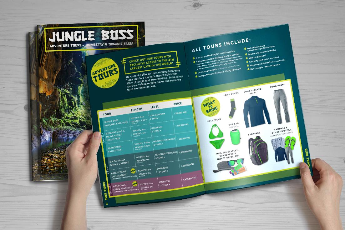 Brochure Design for Adventure Tourism Company