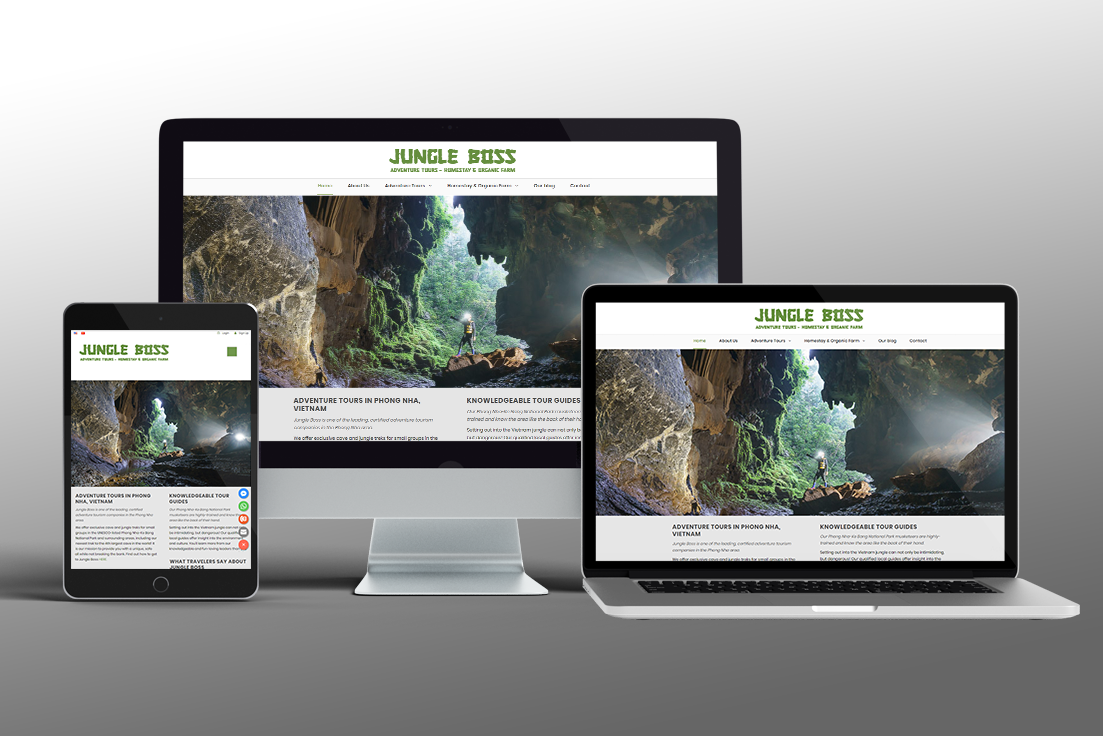 Jungle Boss Website Design