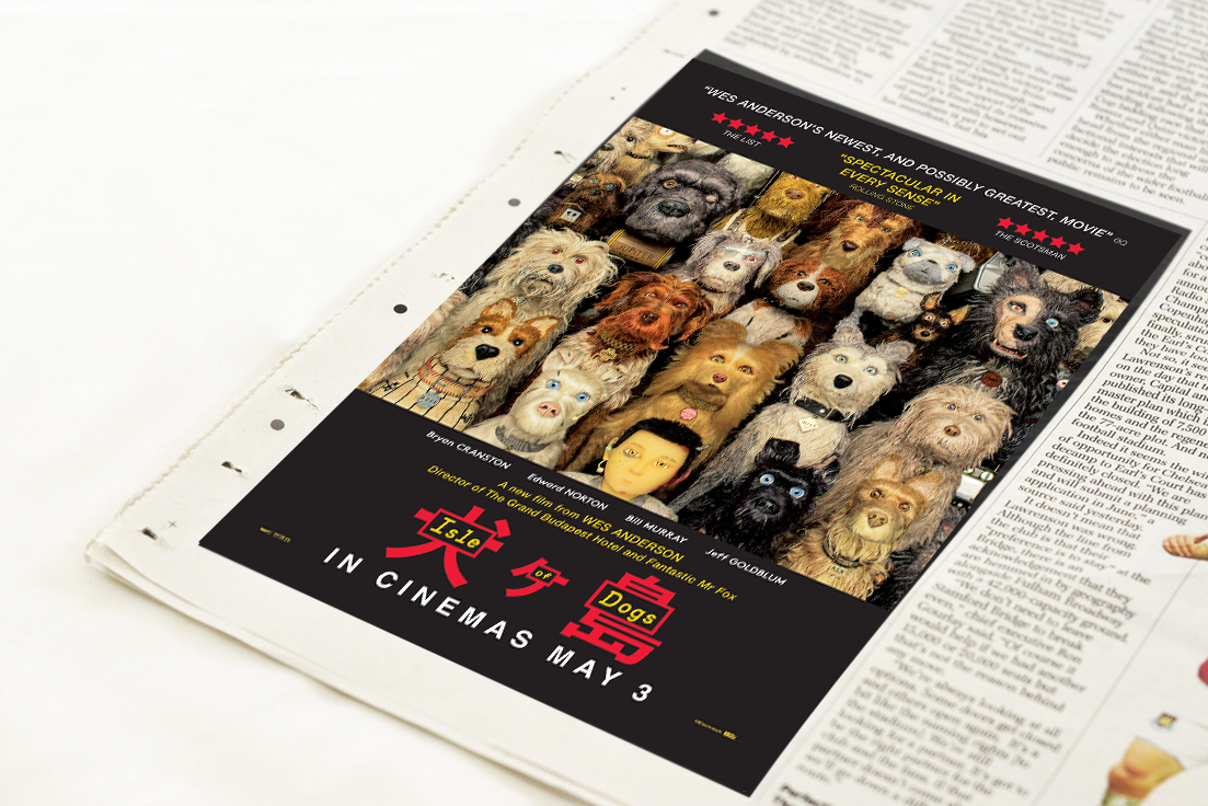 Isle of Dogs Newspaper Ad